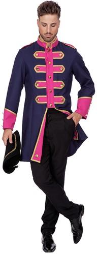 Heren Carnavalsjas Uniform Donkerblauw/Fuchsia