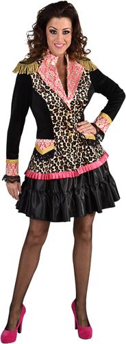 Damesjas Luipaard-Pink Luxe
