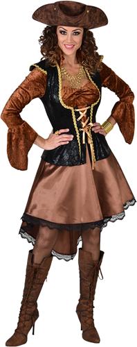 Piratenjurk Koper-Zwart Luxe voor dames
