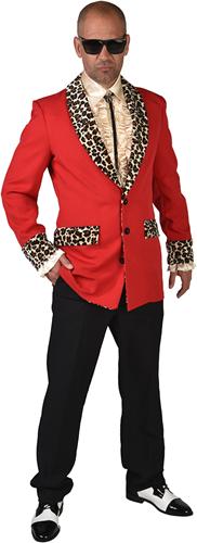 Pooier Colbert Rood-Panter voor heren - Jaren 50