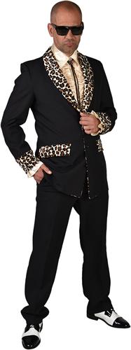 Pooier Colbert Zwart-Panter voor heren - Jaren 50
