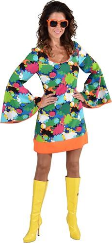 Disco Seventies Jurkje Flowers voor dames