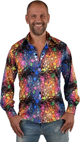 Heren Disco Seventies Shirt Colourdrops