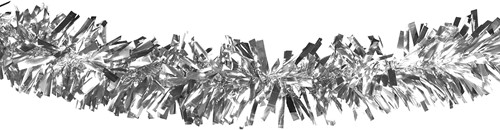 Brandvertragende Folie Draaiguirlande Zilver 10m (Ø 20cm, PVC)