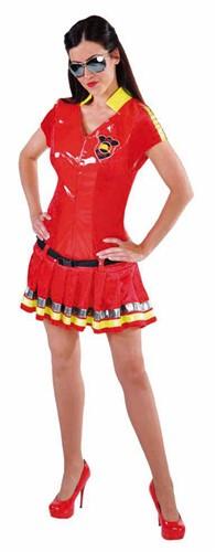 Brandweerkostuum Rood Luxe voor dames