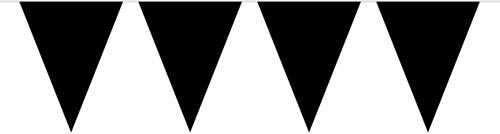 Vlaggenlijn Zwart (10m)