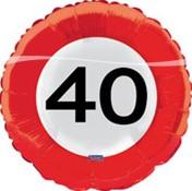 Folieballon 40jaar Verkeersbor