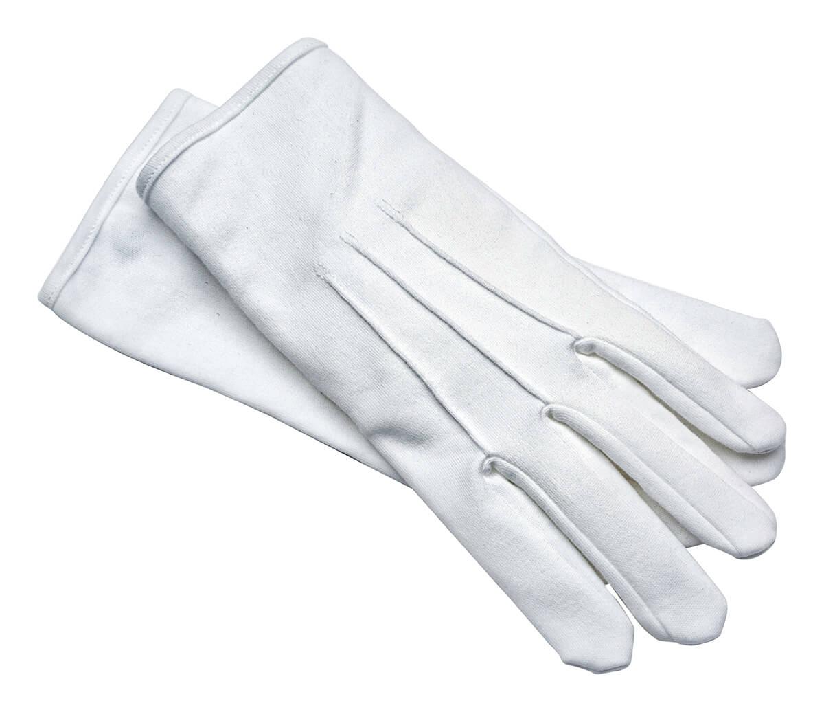 Witte Handschoenen Luxe (Hoge Kwaliteit)