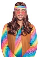 Hippie Pruik Bruin met Hoofdband-2