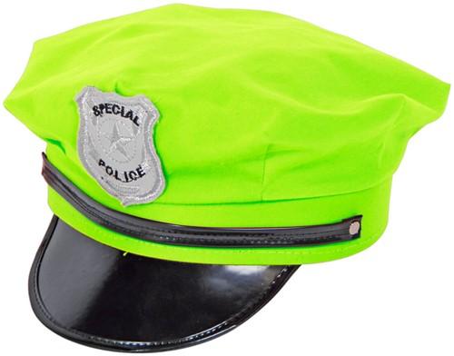 Politie Pet Neon Groen