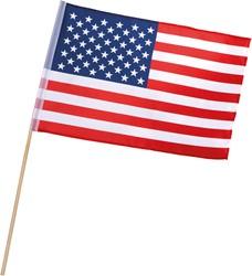 Polyesther Zwaaivlag USA - Amerika op Stokje