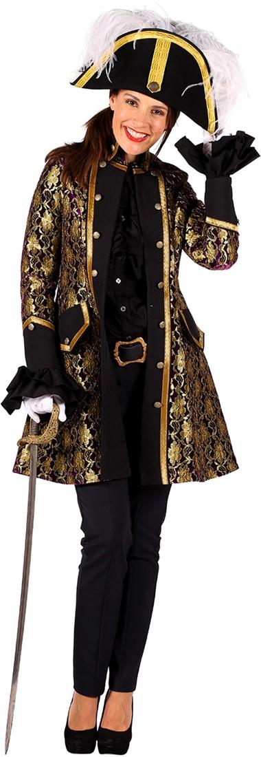 Jas dame Sparkling Lace paars is een jas in een zeer