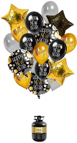 Heliumtank Set Happy New Year