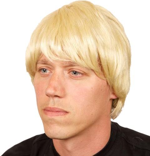 Pruik heer stijl blond
