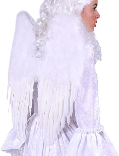 Engelen Vleugels Wit met Marabou Luxe (30x45cm)