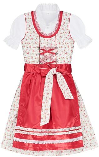Dirndl Rode Roosjes Luxe voor meisjes