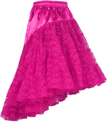 Petticoat met Kant Luxe Pink