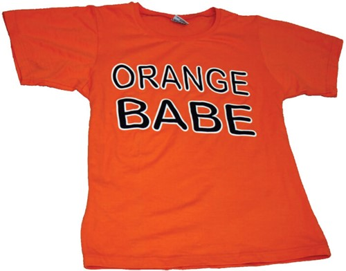 T-shirt Orange Babe