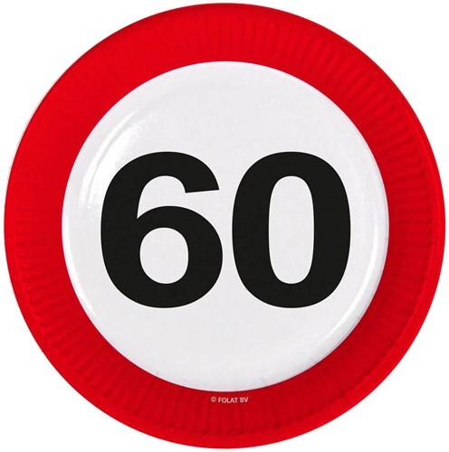 Bordjes 60 jaar Verkeersbord 8st