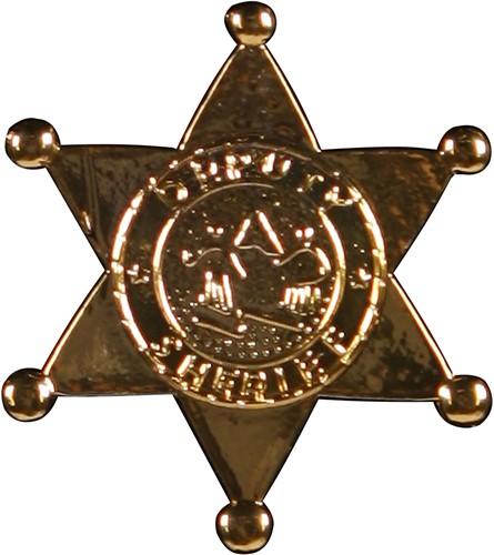 Sheriff Ster Metaal Goud