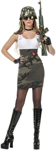Damesjurkje Sexy Army Babe
