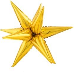Folieballon Exploding Star Goud (67x20cm)
