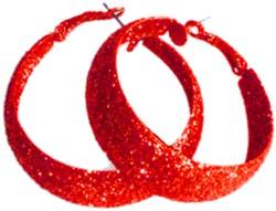 Oorbellen Glitter Rood