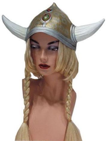 Vikinghelm met Vlechten Rubber
