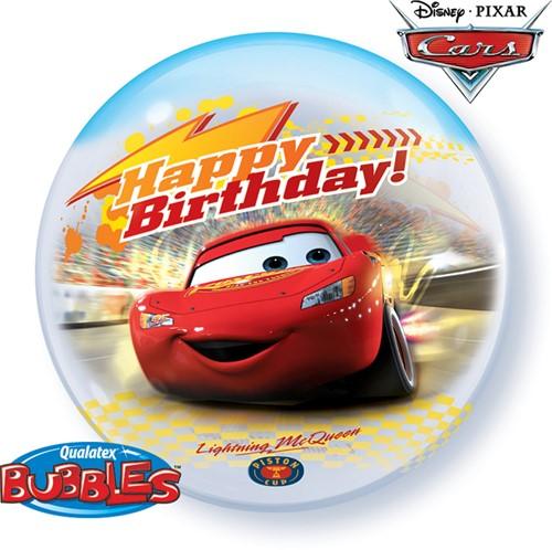 Bubble Ballon Cars Happy Birthday!