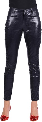 Dames Stretchbroek Metallic Zwart (2)