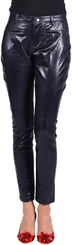 Dames Stretchbroek Metallic Zwart