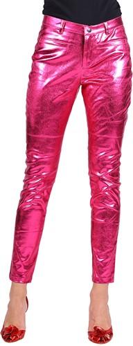 Dames Stretchbroek Metallic Pink