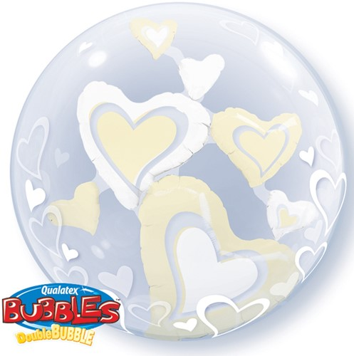 Double Bubble Hearts Ivory