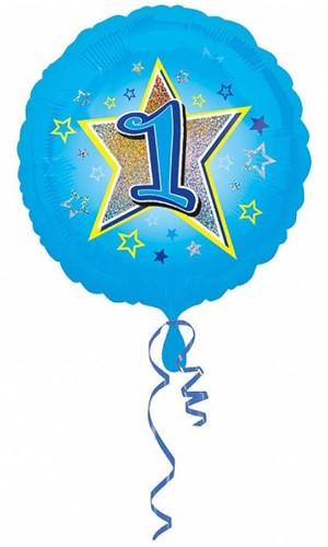 Folieballon 1 Jaar Blauw