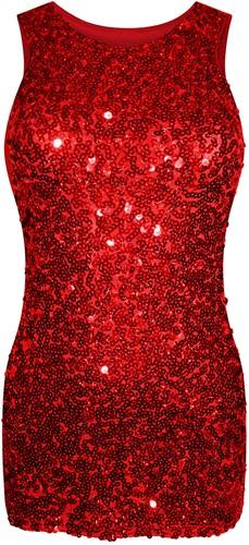 Paillettenjurkje Glitter Rood voor meisjes