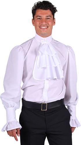 Blouse met Jabot Wit Luxe voor heren