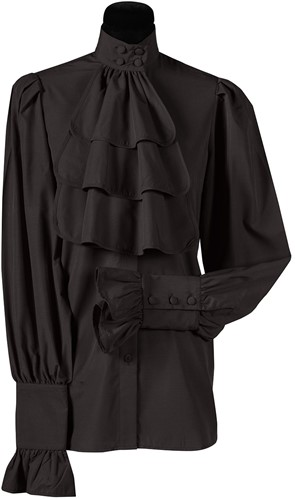 Blouse met Jabot Zwart Luxe voor dames