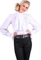 Blouse met Jabot Wit Luxe voor dames (2)