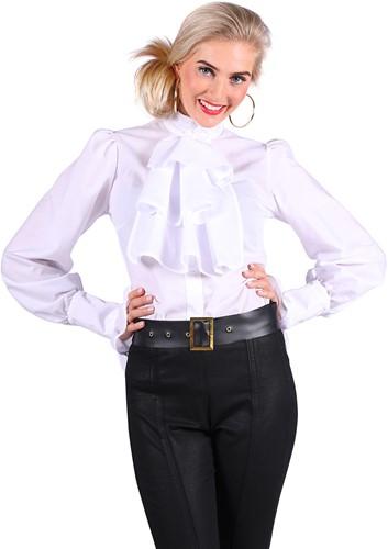 Blouse met Jabot Wit Luxe voor dames