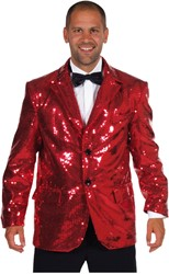 Colbert Pailletten Luxe Gevoerd Rood