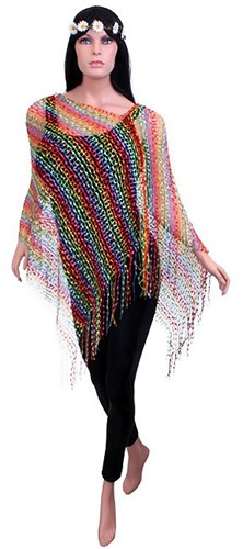 Toppers Poncho Rainbow