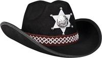 Kinder Cowboyhoed Sheriff Zwart