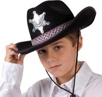 Kinder Cowboyhoed Sheriff Zwart-2