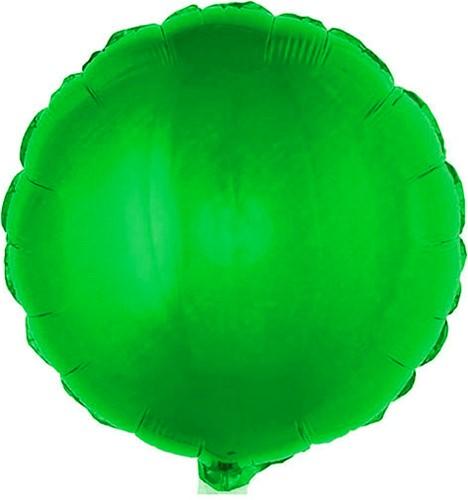 Folieballon Rond Metallic Groen (56x46cm)