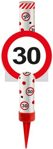IJsfontein 30 Verkeersbord