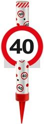 IJsfontein 40 Verkeersbord