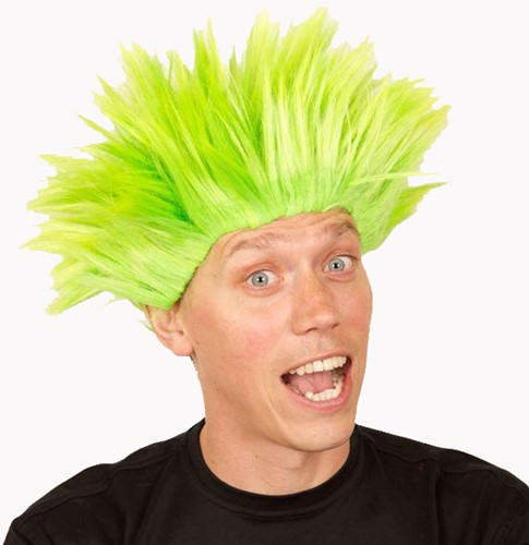 Pruik Electric Shock Groen