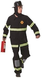 Brandweermannen Pak Zwart voor heren