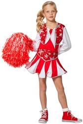 Cheerleaderspakje Luxe Rood-Wit voor meisjes