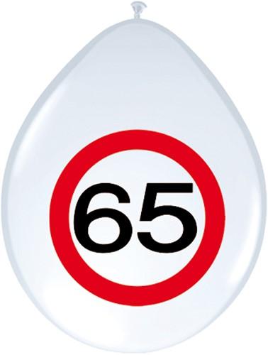 Ballonnen 65 jaar Verkeersbord 8st